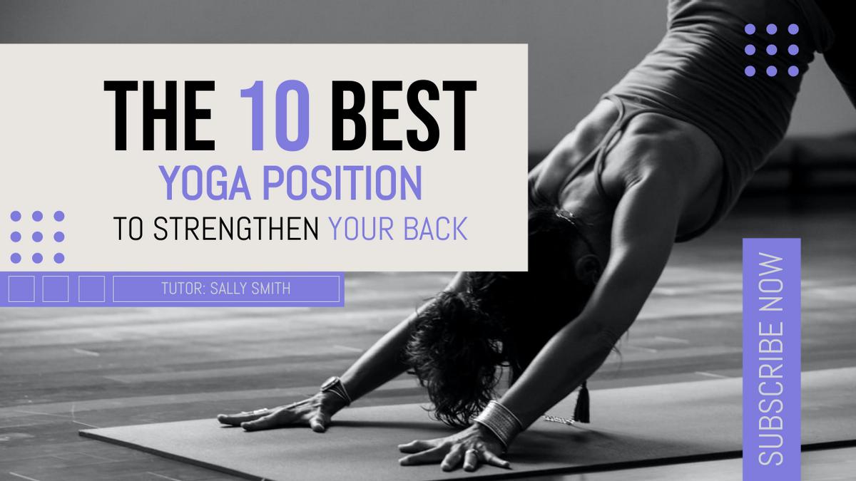 YouTube Thumbnail template: Elegant Best Yoga Position YouTube Thumbnail (Created by InfoART's YouTube Thumbnail maker)