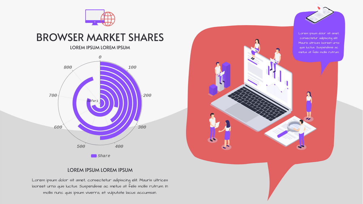 Radial Chart template: Browser Market Shares Radial Chart (Created by Chart's Radial Chart maker)