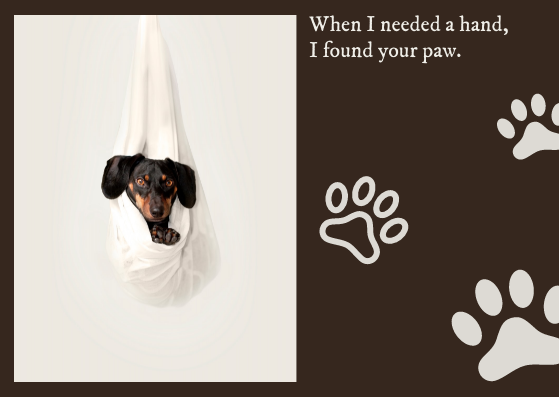 Post Card template: Dog Post Card (Created by InfoART's Post Card marker)