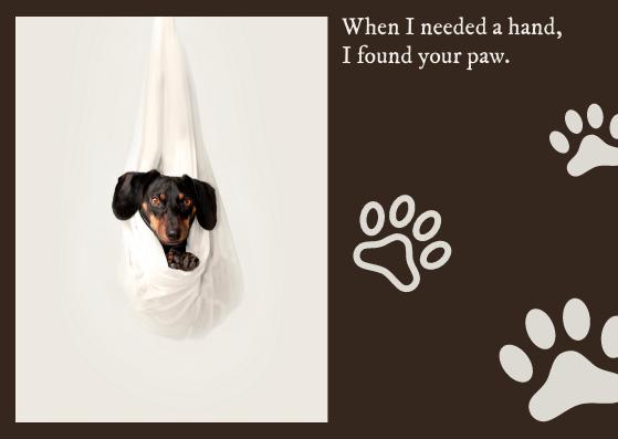 Postcard template: Dog Postcard (Created by InfoART's Postcard maker)