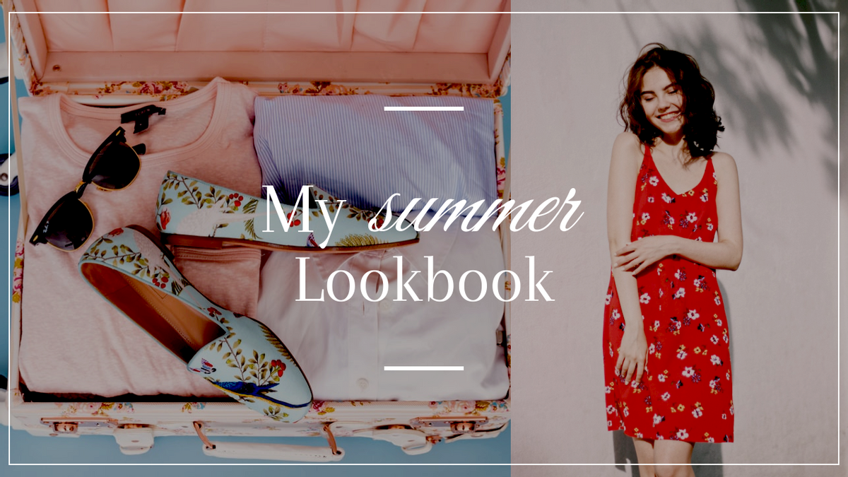 YouTube Thumbnail template: Red Summer Lookbook Photo Fashion YouTube Thumbnail (Created by InfoART's YouTube Thumbnail maker)