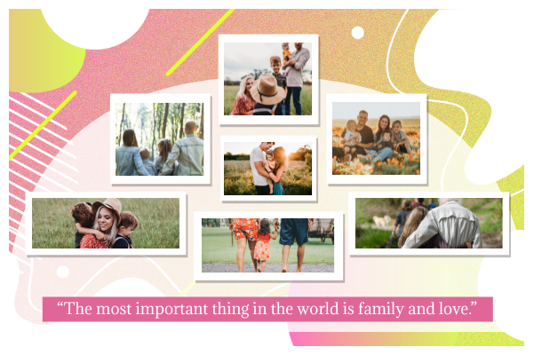 Greeting Card template: Family Tree Greeting Card (Created by Collage's Greeting Card maker)