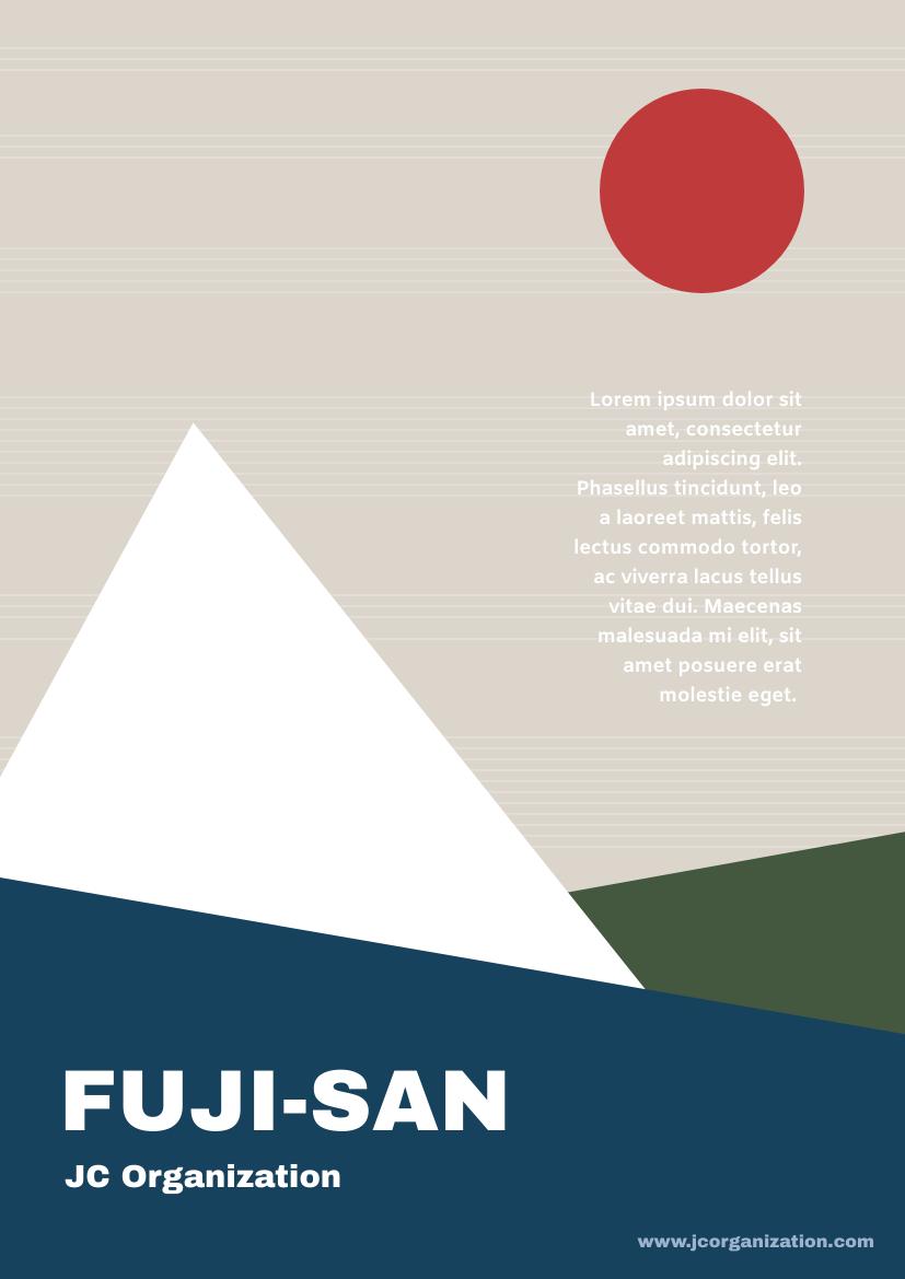 Flyer template: Fuji San Flyer (Created by InfoART's Flyer maker)