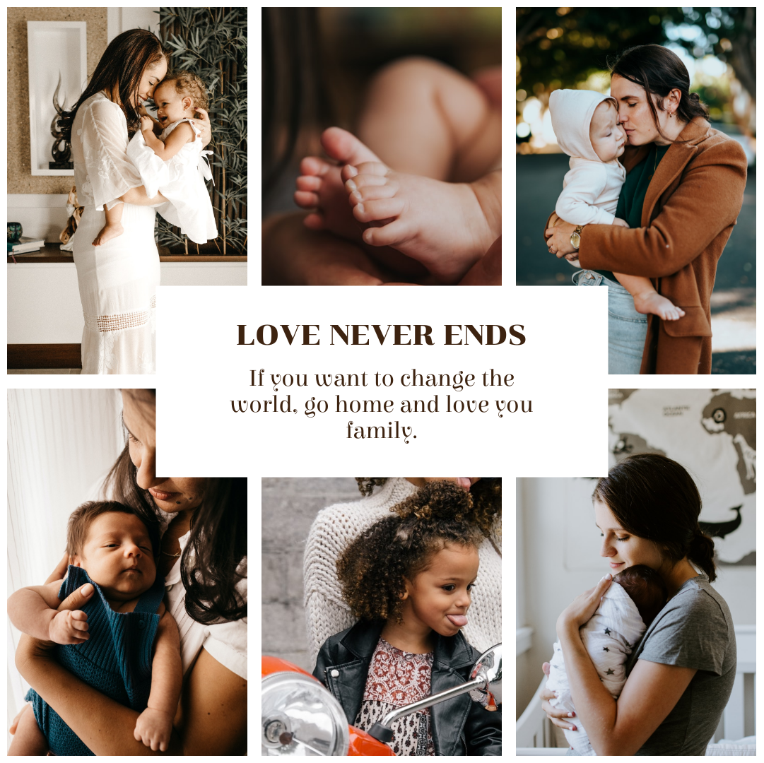 Photo Collage template: Family Love Never Ends Photo Collage (Created by Collage's Photo Collage maker)
