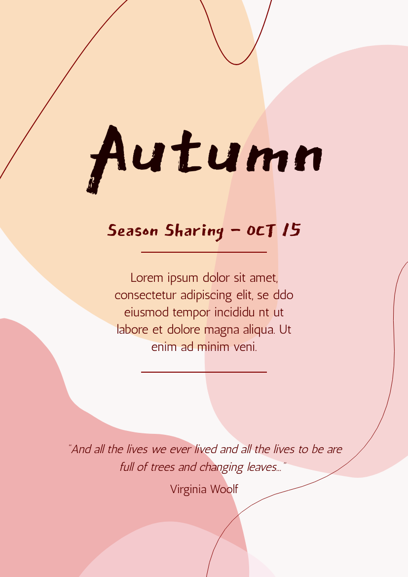 Flyer template: Autumn Season Sharing  Flyer (Created by InfoART's Flyer maker)
