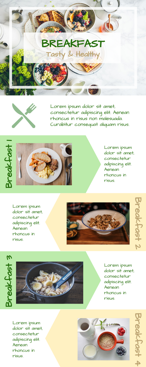 Infographic template: Breakfast Meal Set Infographic (Created by InfoART's Infographic maker)