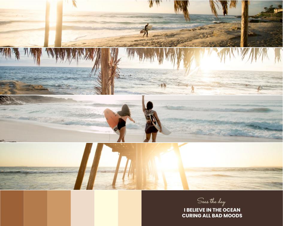 Mood Board template: Beach In Summer Mood Board (Created by Collage's Mood Board maker)