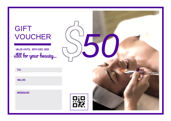 Gift Card template: Spa For Her Gift Card (Created by InfoART's Gift Card maker)