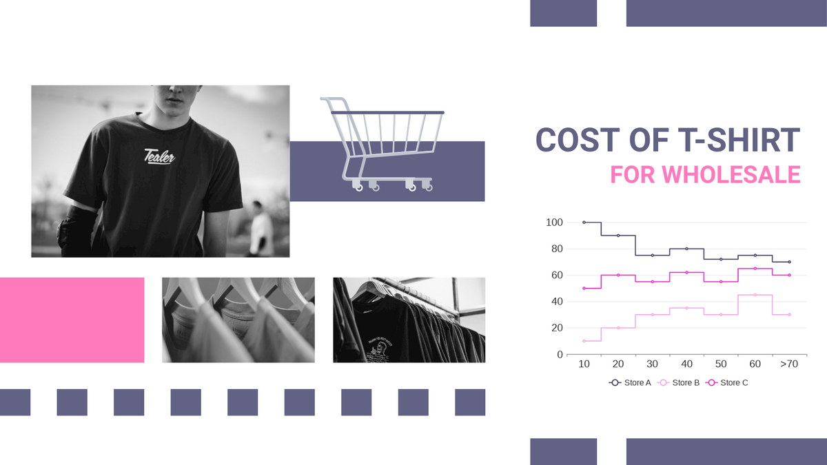 Step Chart template: Fashion Wholesale Price Step Chart (Created by Chart's Step Chart maker)