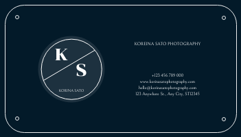 Business Card template: Navy Sea Background Photographer Business Card (Created by InfoART's Business Card maker)