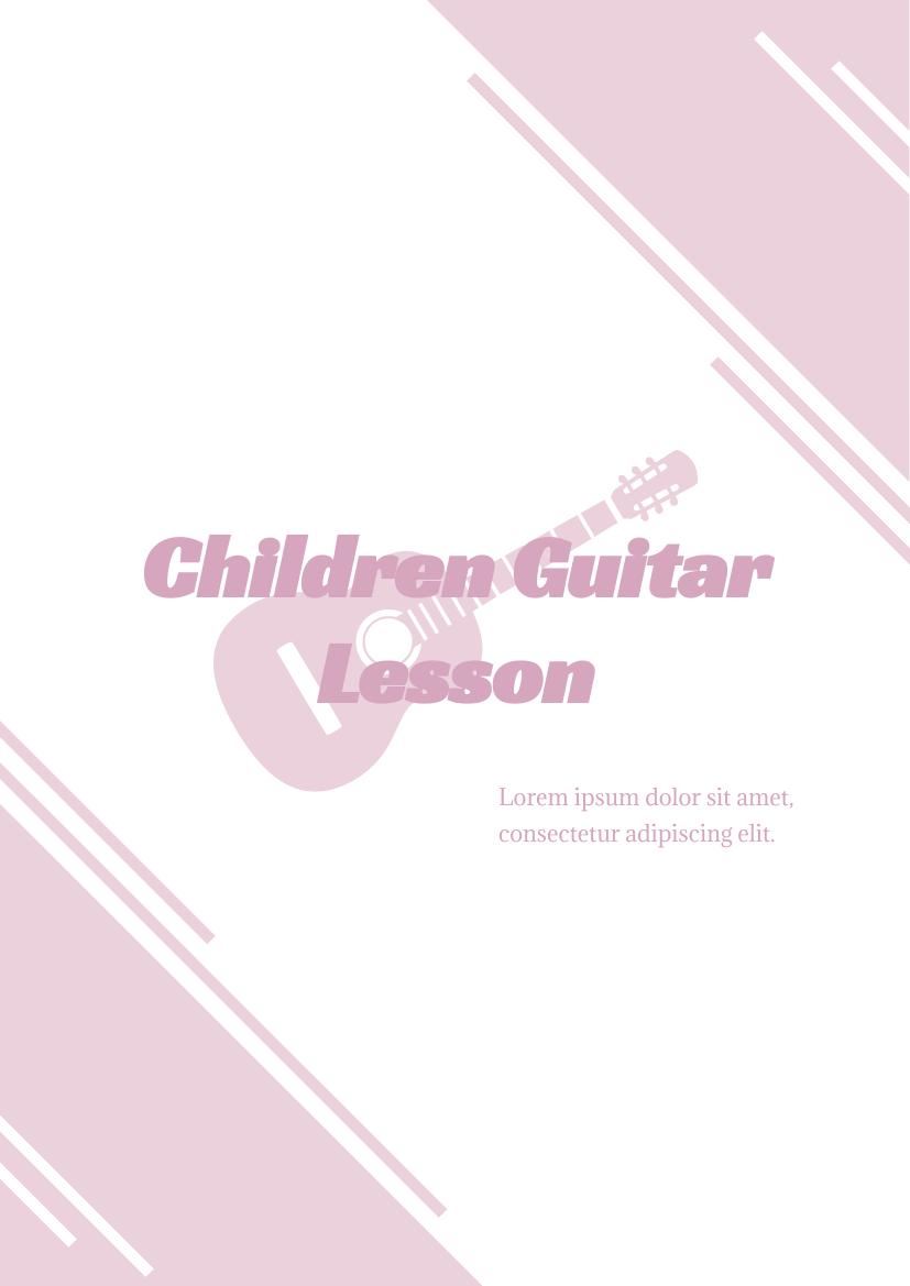 Flyer template: Children's Guitar Lesson Flyer (Created by InfoART's Flyer maker)