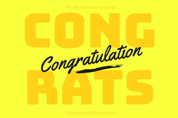 Greeting Card template: Congratulation Greeting Card (Created by InfoART's Greeting Card maker)
