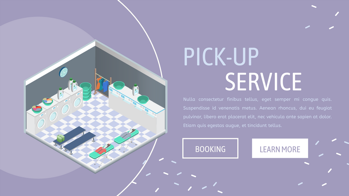 Isometric Diagram template: Laundry Services (Created by InfoART's Isometric Diagram maker)