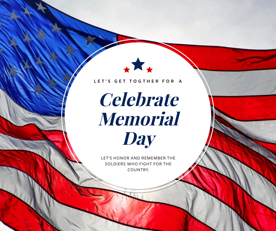 Facebook Post template: Soldier Flag Background Memorial Day Facebook Post (Created by InfoART's Facebook Post maker)