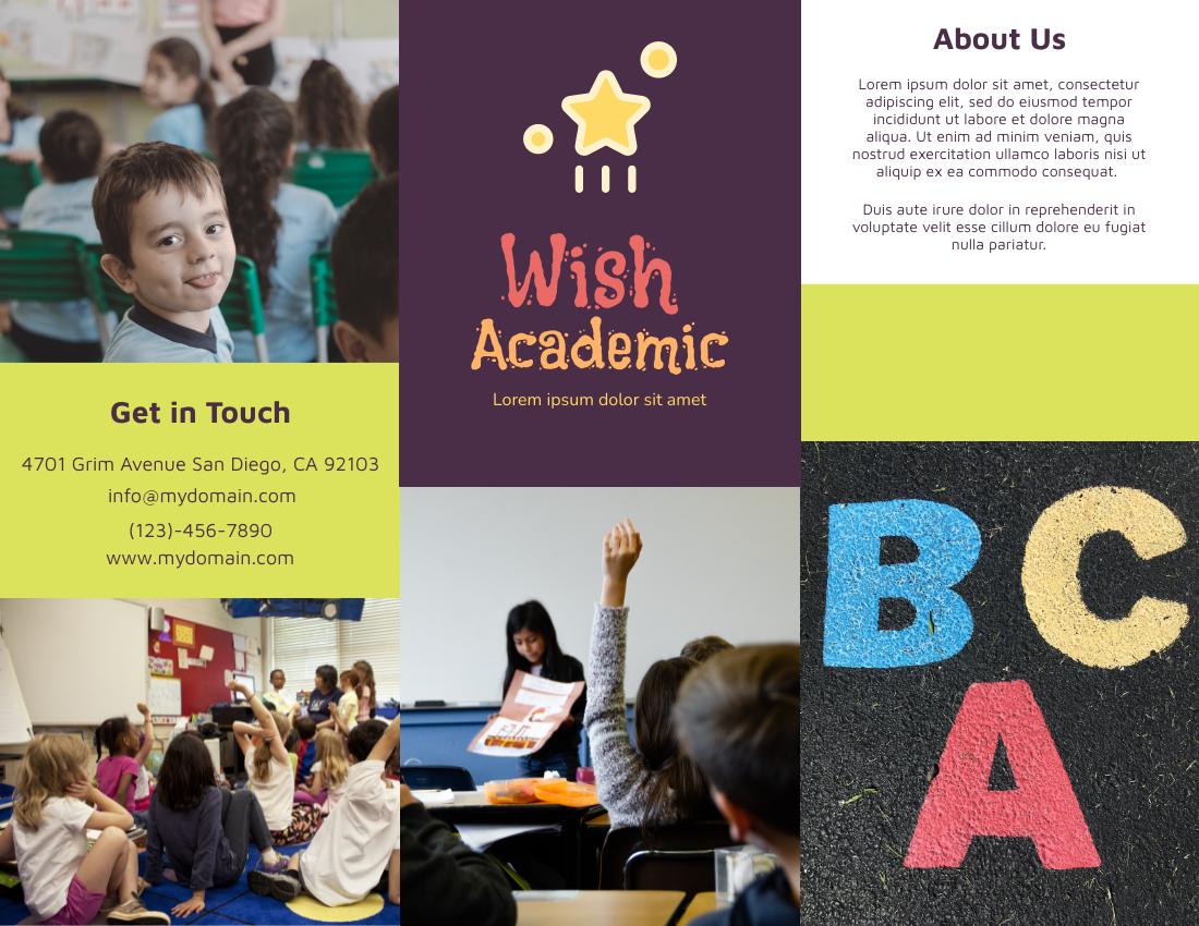 Brochure template: Wish Academic (Created by InfoART's Brochure marker)