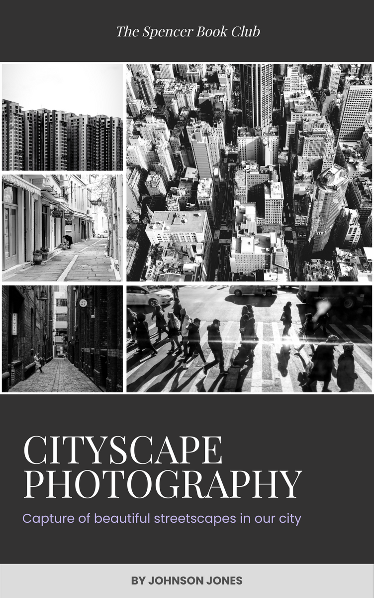 Book Cover template: Cityscape Photography Book Cover (Created by InfoART's Book Cover maker)