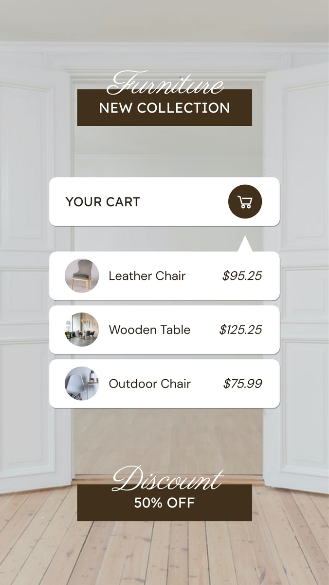Instagram Story template: Furniture New Collection Instagram Story (Created by InfoART's Instagram Story maker)