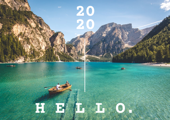 Post Card template: Hello 2020 Post Cards (Created by InfoART's Post Card marker)
