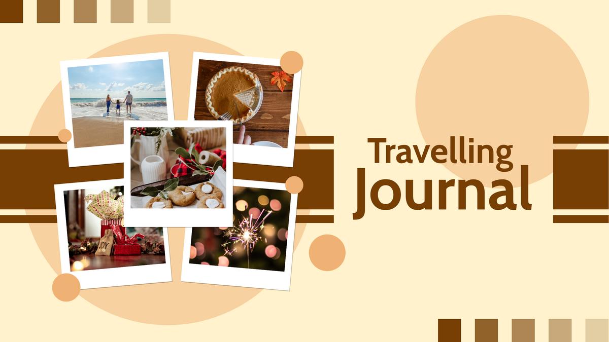 YouTube Channel Art template: Travelling Journal YouTube Channel Art (Created by Collage's YouTube Channel Art maker)