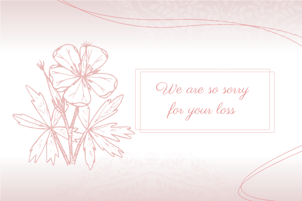 Greeting Card template: Sympathy Greeting Card (Created by InfoART's Greeting Card maker)