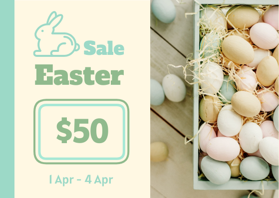Gift Card template: Colourful Easter Sale Gift Card With Colour (Created by InfoART's Gift Card maker)
