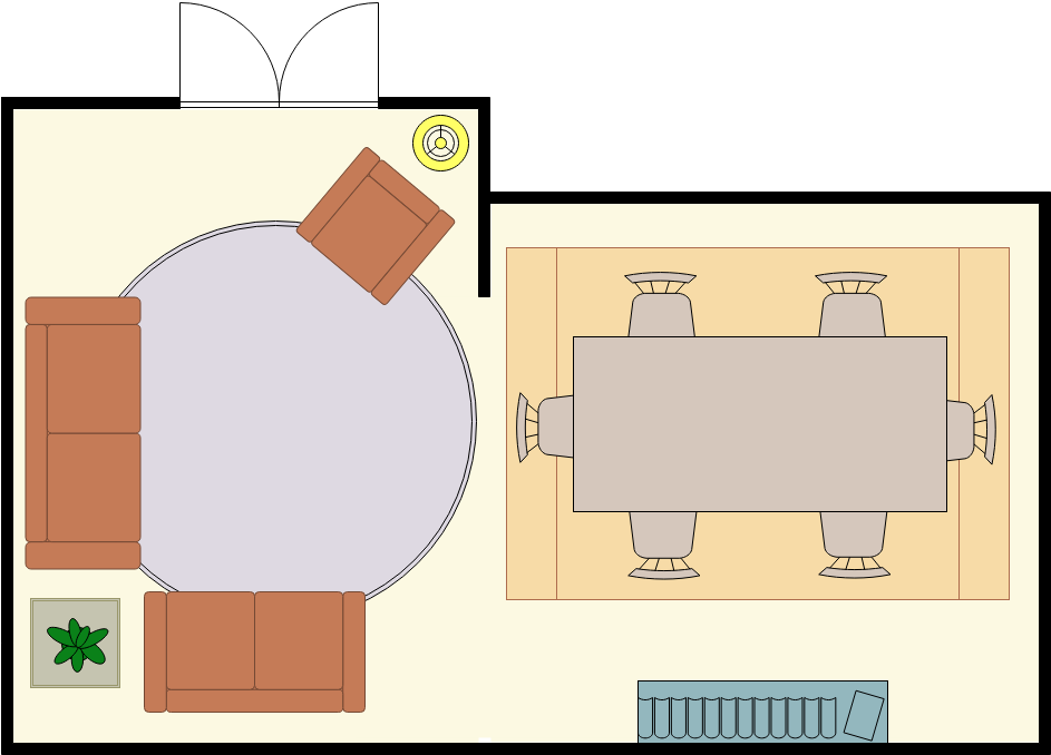 Typical Living Room Layout