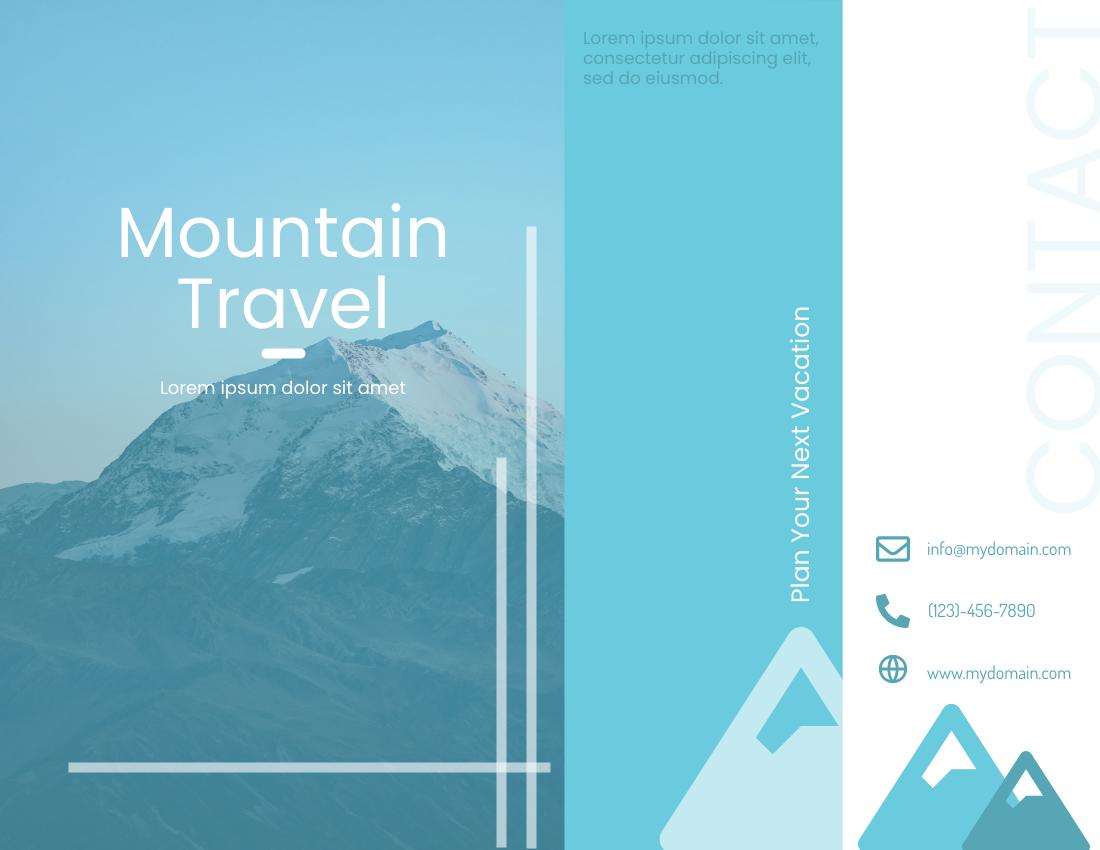Brochure template: Mountain Travelling Brochure (Created by InfoART's Brochure maker)