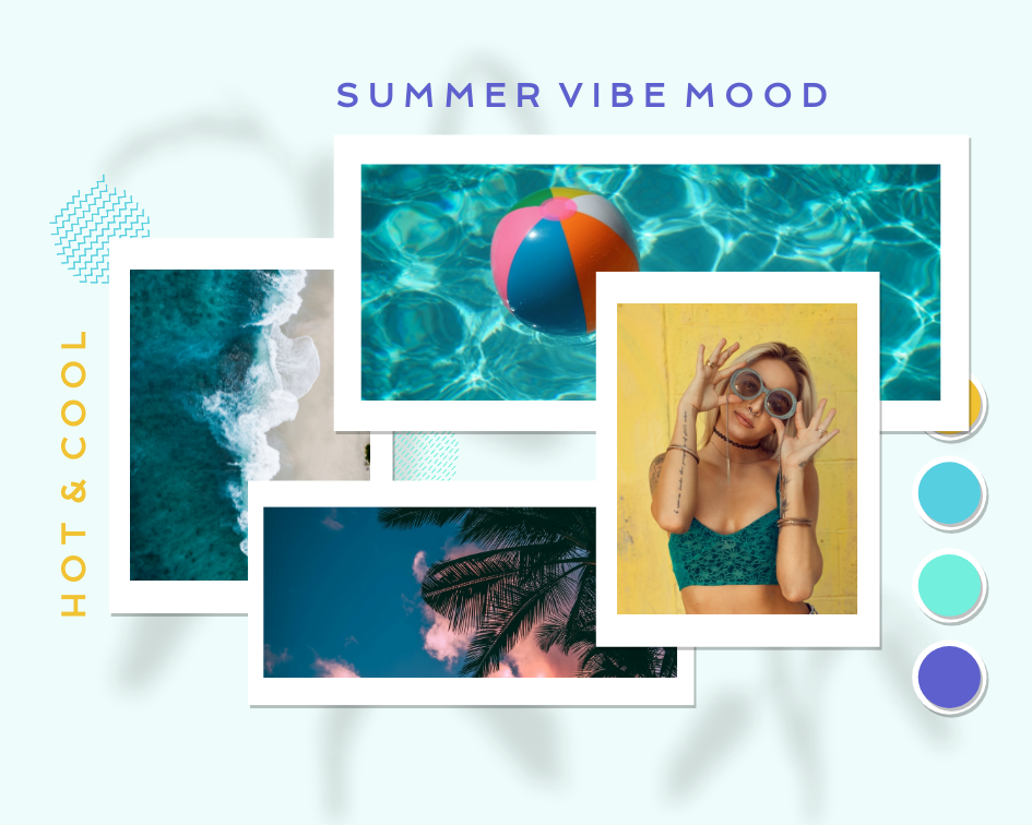 Mood Board template: Summer Vibe Mood Board (Created by Collage's Mood Board maker)