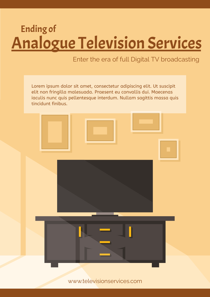 Flyer template: Analogue Television Services Flyer (Created by InfoART's Flyer maker)