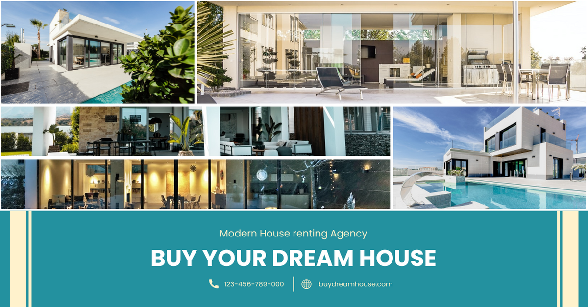 Facebook Ad template: House Renting Agency Facebook Ad (Created by InfoART's Facebook Ad maker)