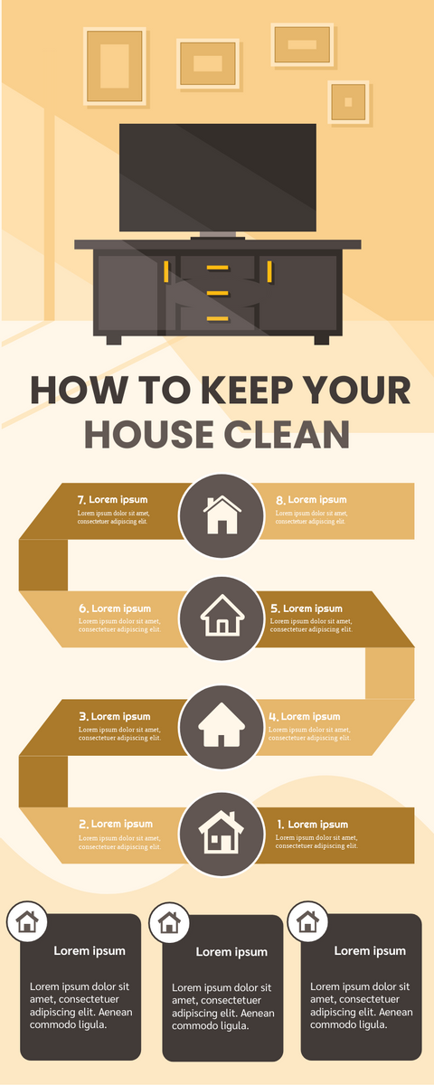 Infographic template: Keep Your House Clean Infographic (Created by InfoART's Infographic maker)