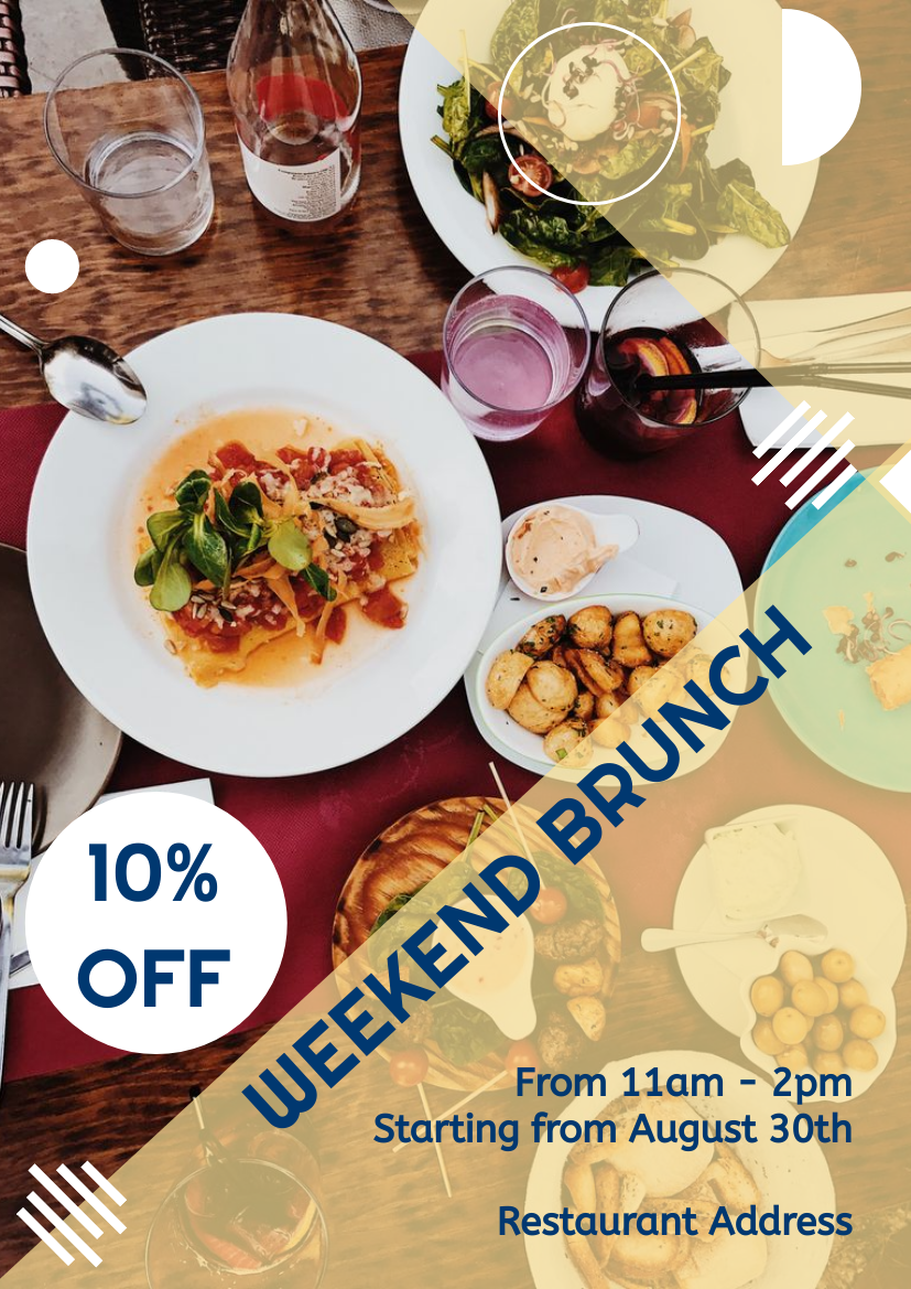Flyer template: Weekend Brunch Flyer (Created by InfoART's Flyer maker)