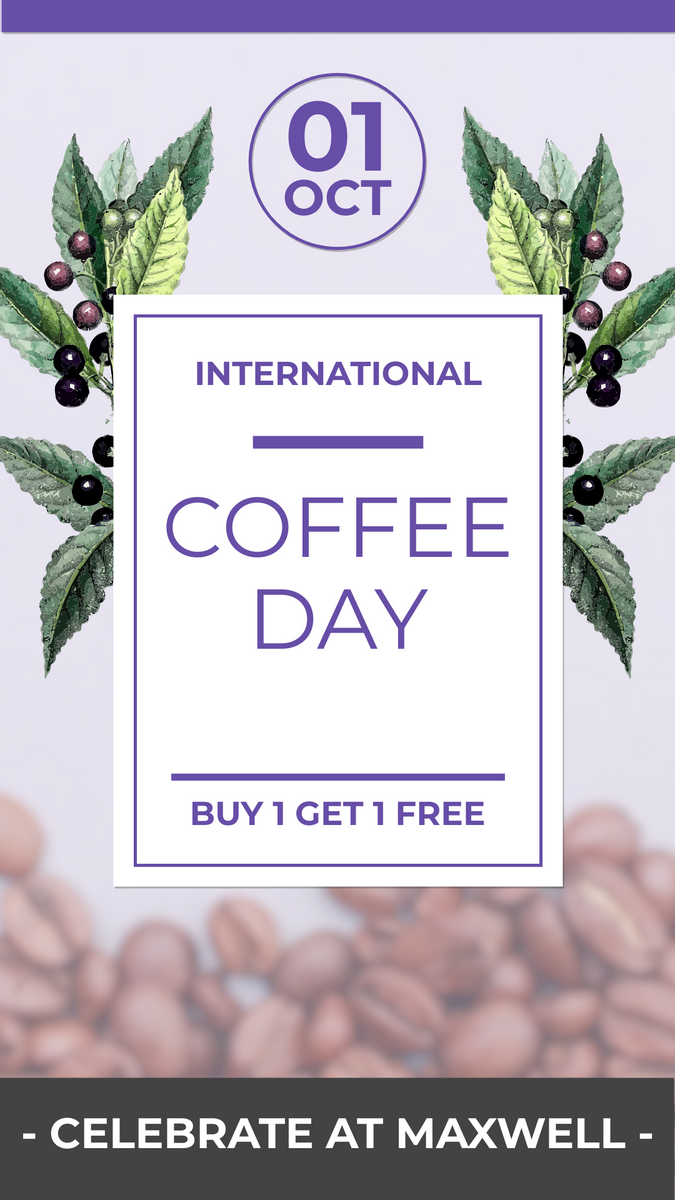 Instagram Story template: National Coffee Day Sales Instagram Story (Created by InfoART's Instagram Story maker)