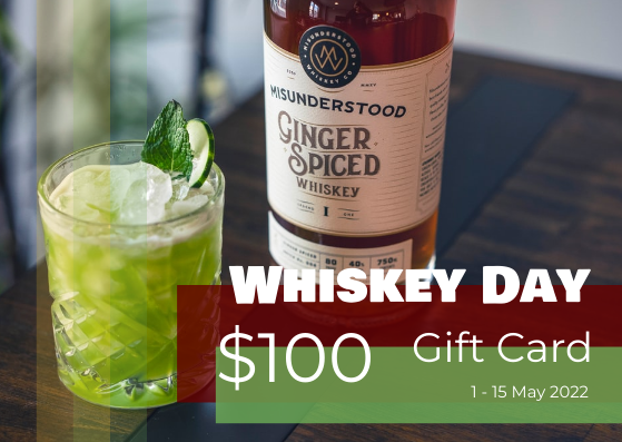 Gift Card template: Colourful Photography Whiskey Day Gift Card (Created by InfoART's Gift Card maker)