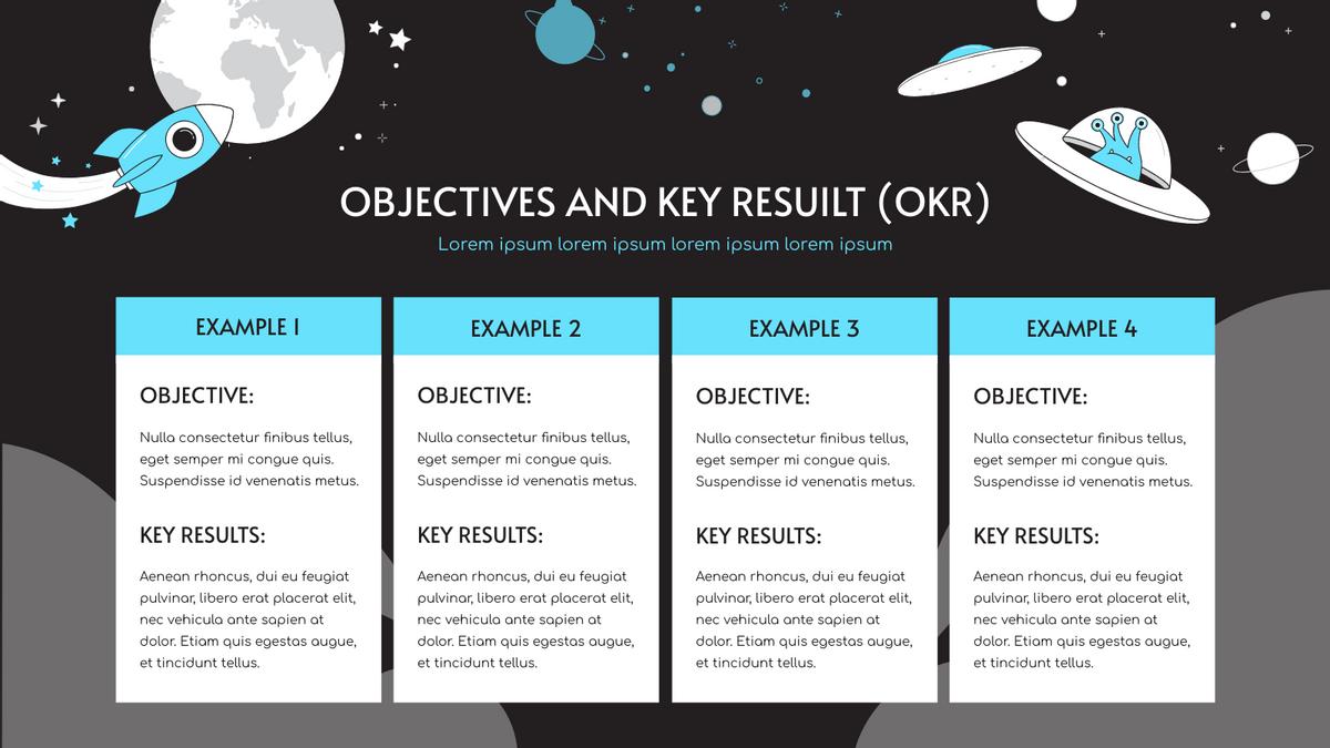 Strategic Analysis template: Space Illustration OKR Strategic Analysis (Created by InfoART's Strategic Analysis maker)