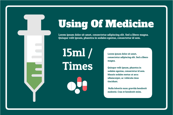 Medical template: Using Of Medicine (Created by InfoChart's Medical maker)