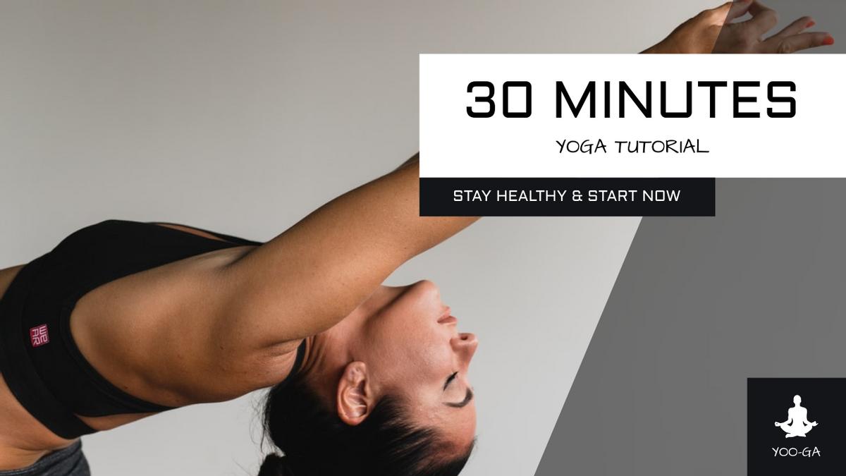 YouTube Thumbnail template: Black Yoga Photo Fitness YouTube Thumbnail (Created by InfoART's YouTube Thumbnail maker)