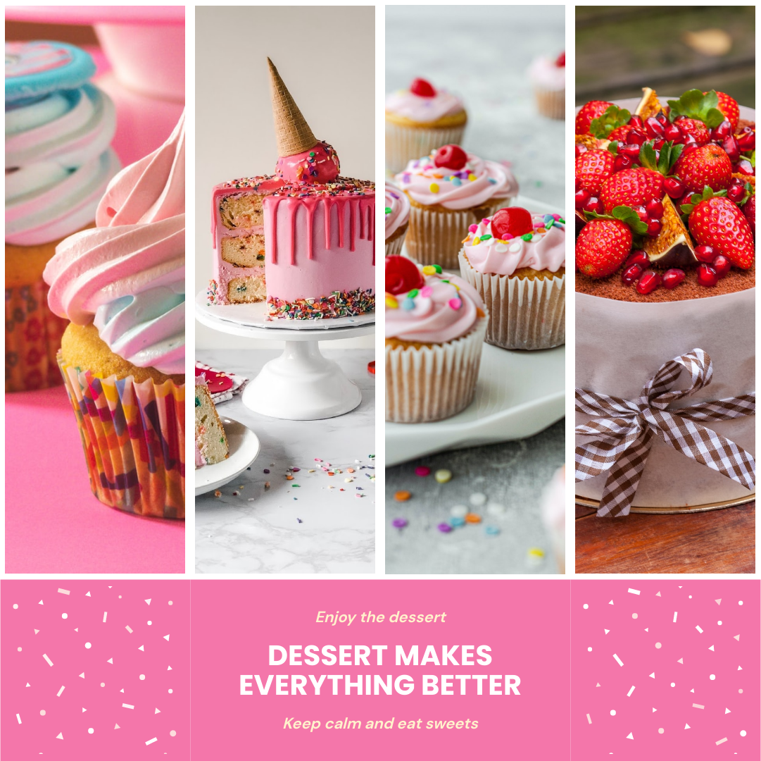 Photo Collage template: Eat Sweets Photo Collage (Created by Collage's Photo Collage maker)