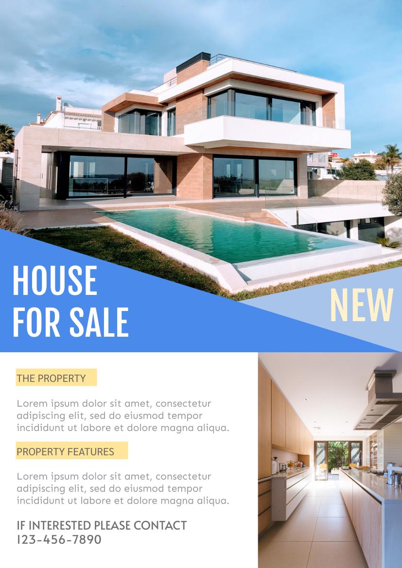 Flyer template: House Sale Flyer (Created by InfoART's Flyer maker)