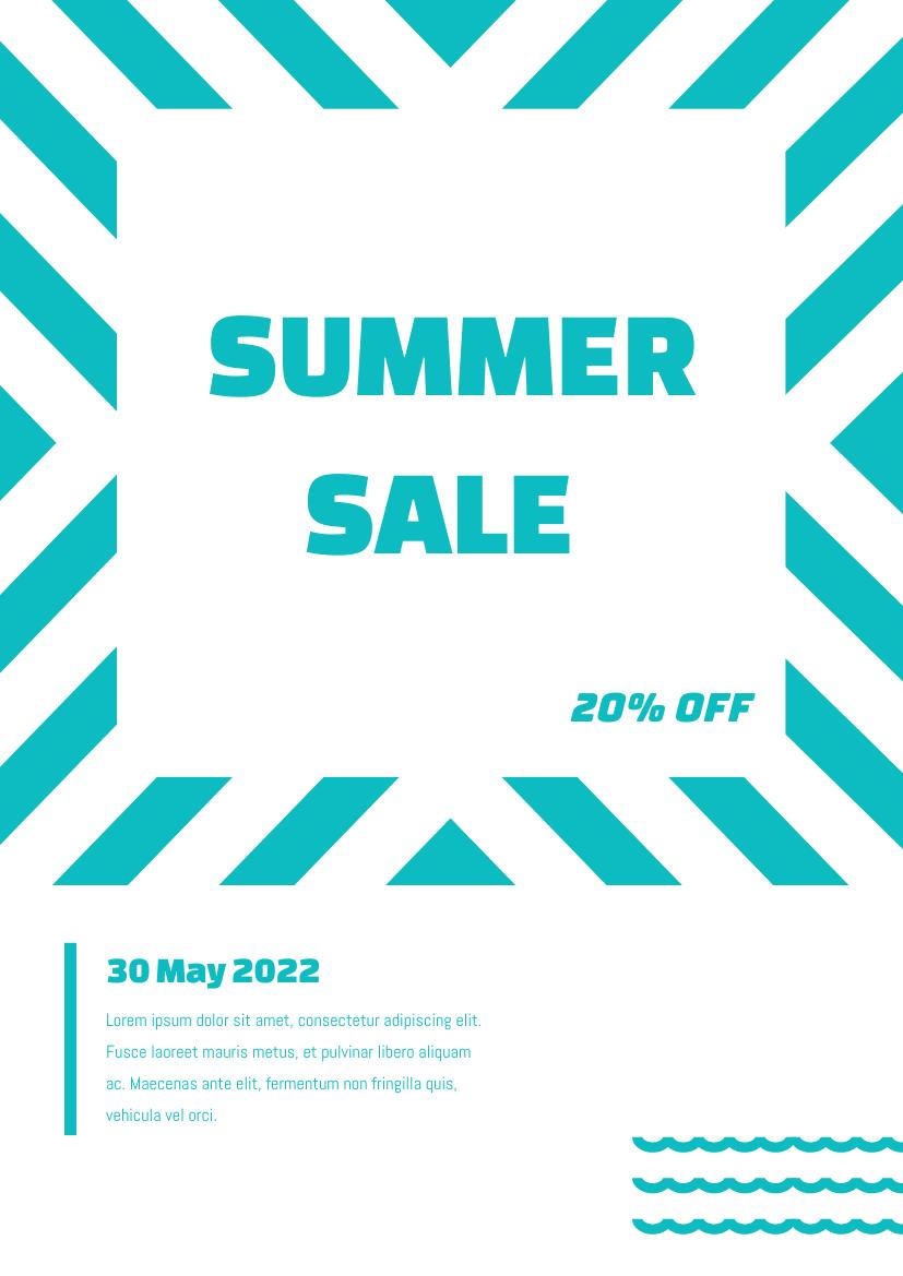 Flyer template: Summer sale flyer (Created by InfoART's Flyer maker)