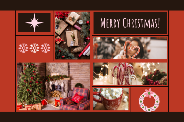 Greeting Card template: Christmas Collage Greeting Card (Created by Collage's Greeting Card maker)