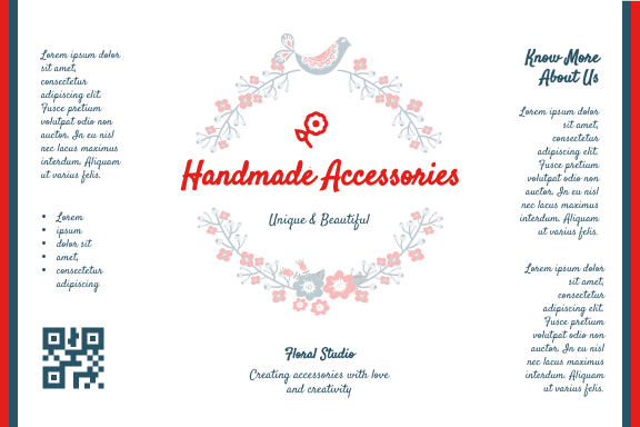 Label template: Handmade Accessories Label (Created by InfoART's Label maker)