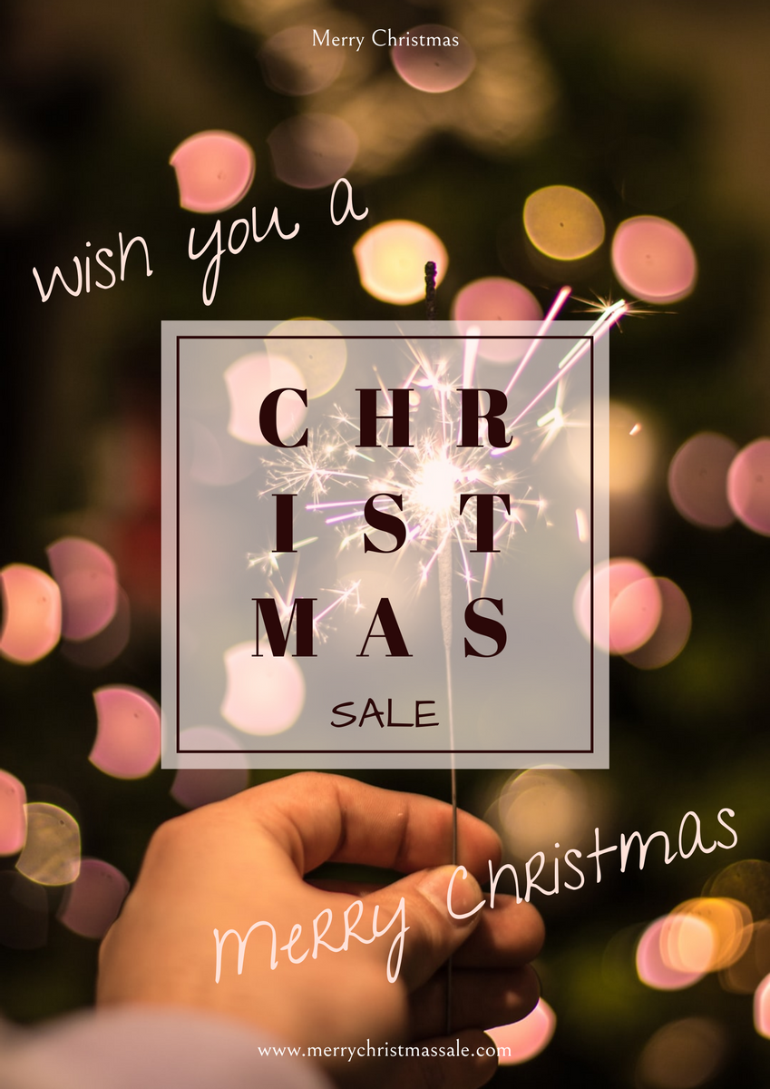 Poster template: Christmas Light Photo Holiday Sale Poster (Created by InfoART's Poster maker)
