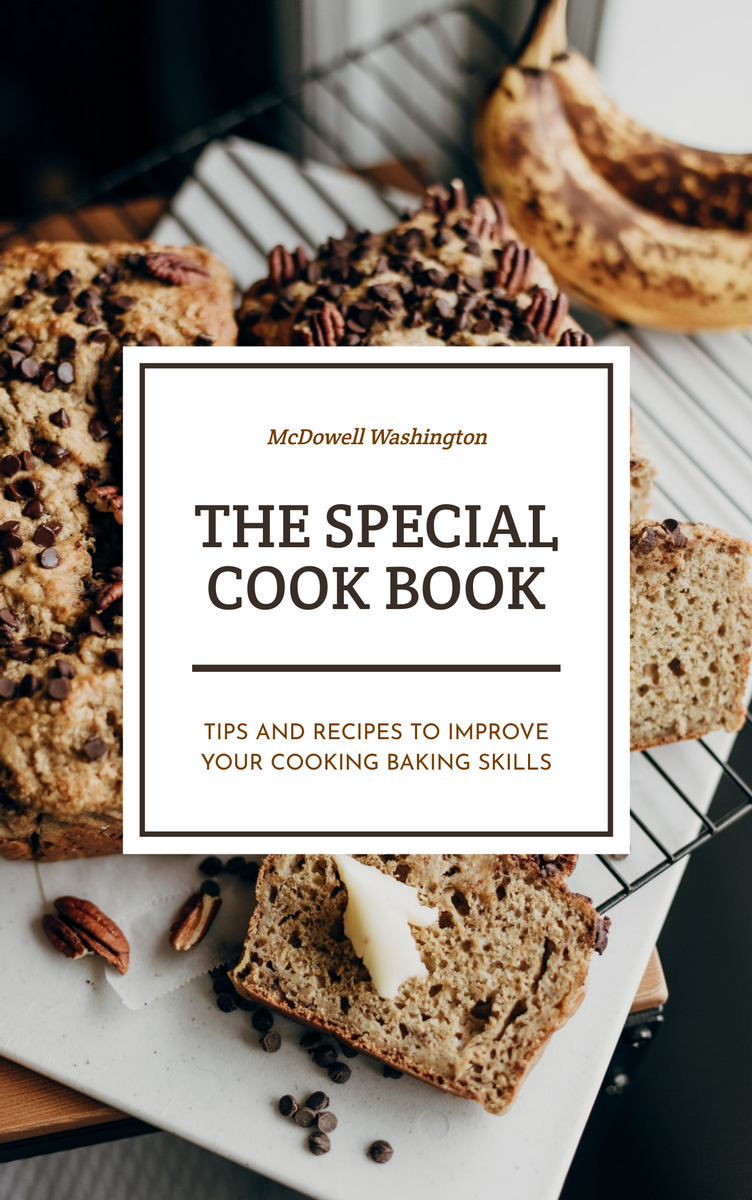 Book Cover template: The Special Cook Book Baking Book Cover (Created by InfoART's Book Cover maker)