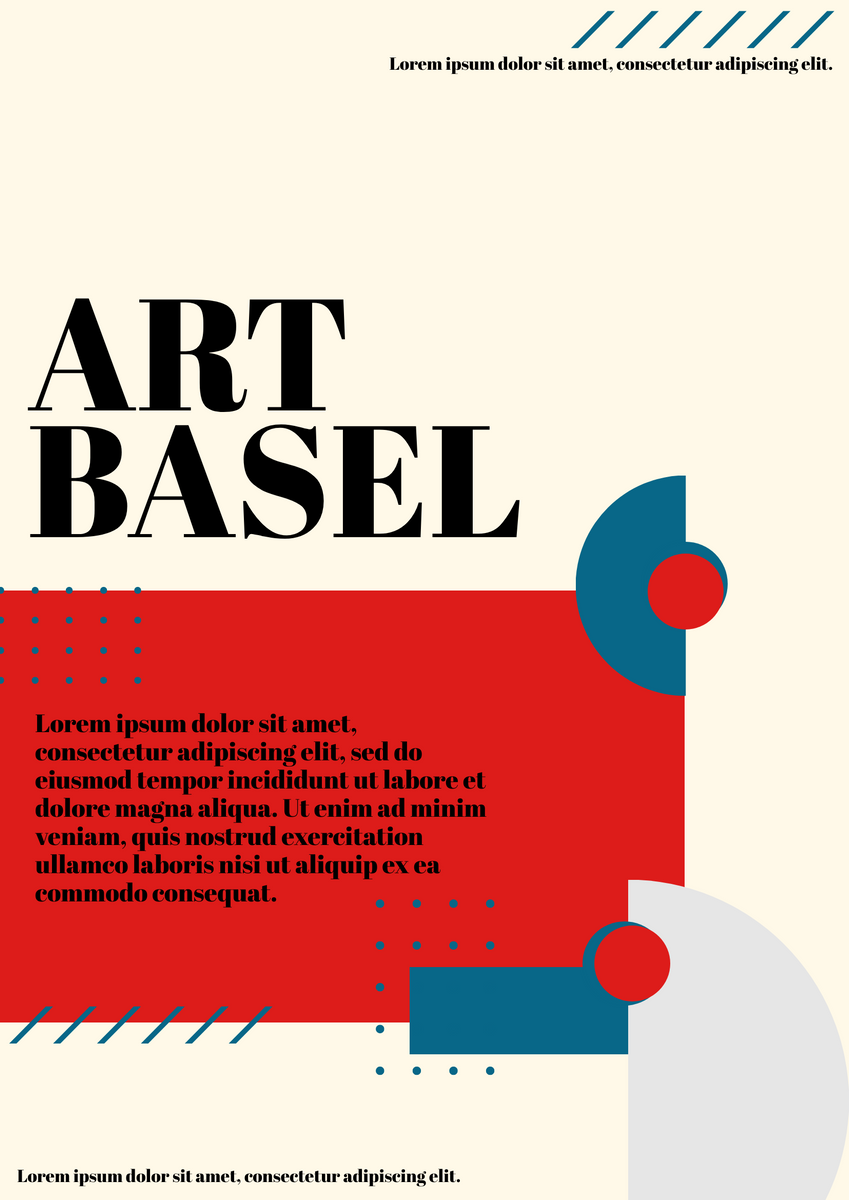 Poster template: Art Basel Poster (Created by InfoART's Poster marker)