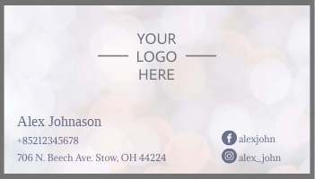 Business Card template: Simple Business Card (Created by InfoART's Business Card maker)