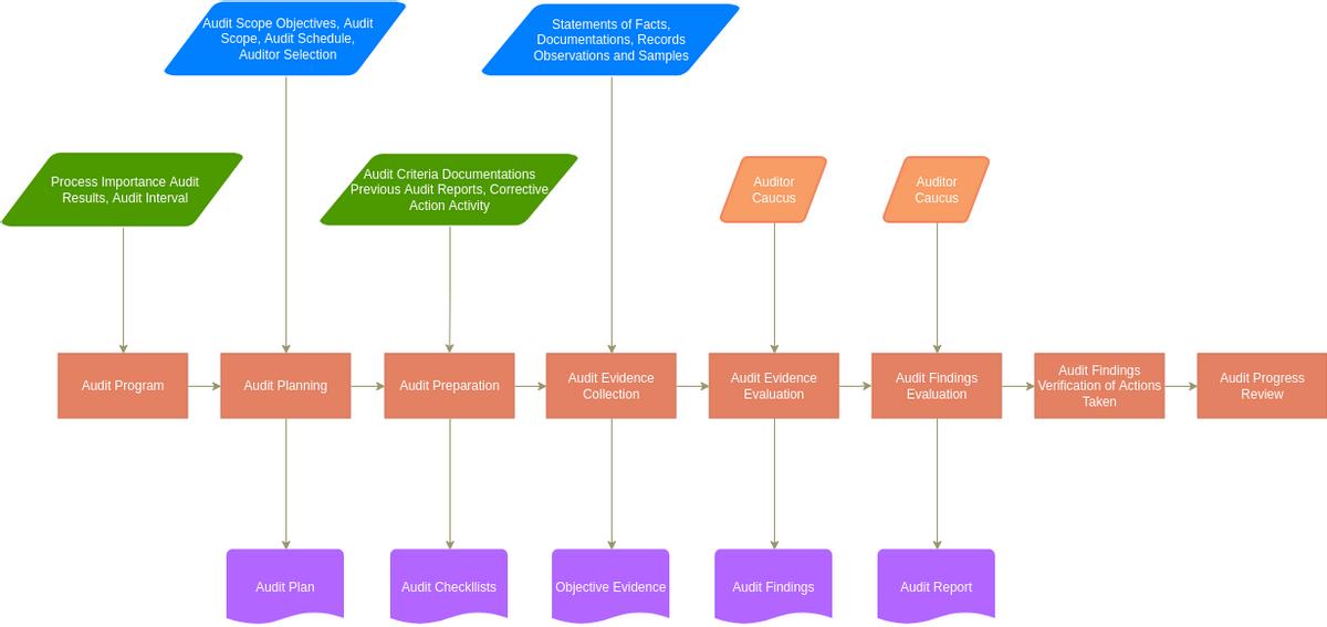 Audit Flowchart template: Audit Flowchart Progress Template (Created by Diagrams's Audit Flowchart maker)