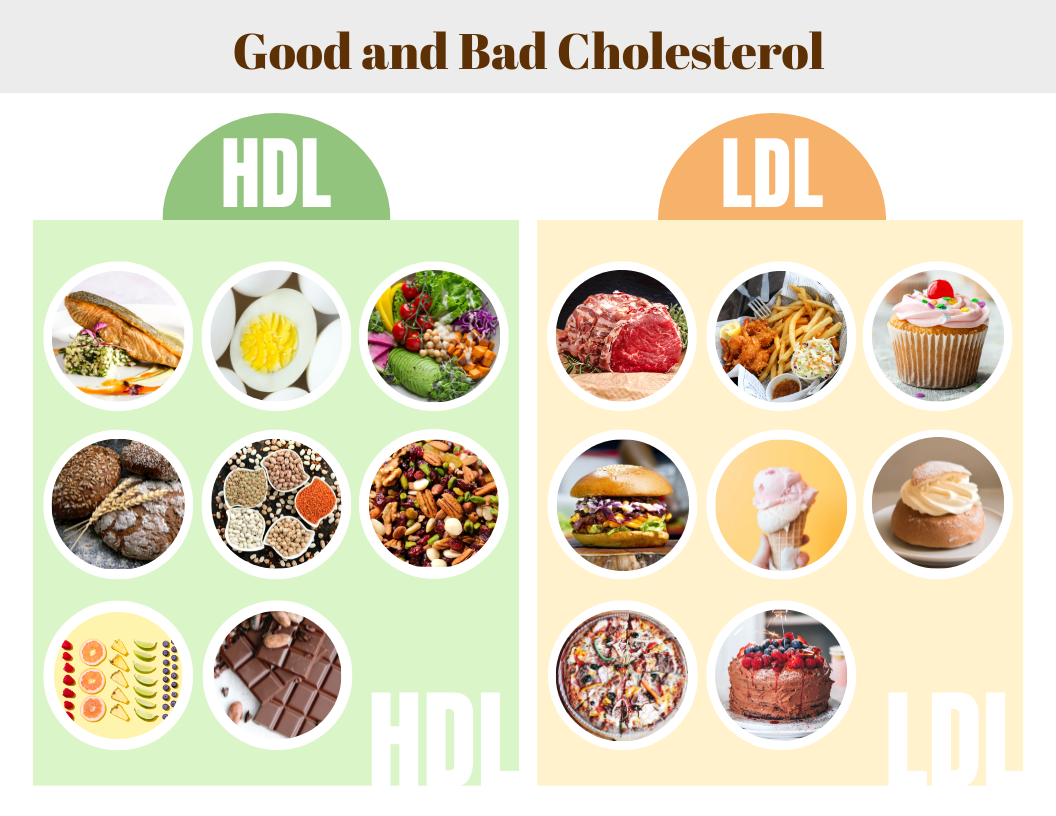 Infographic template: Good and Bad Cholesterol Infographic (Created by InfoART's Infographic maker)