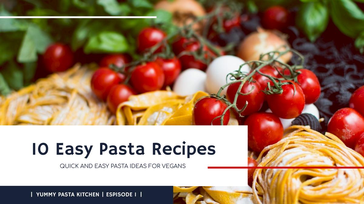 YouTube Thumbnail template: Blue Pasta Photo Cooking Recipes YouTube Thumbnail  (Created by InfoART's YouTube Thumbnail maker)