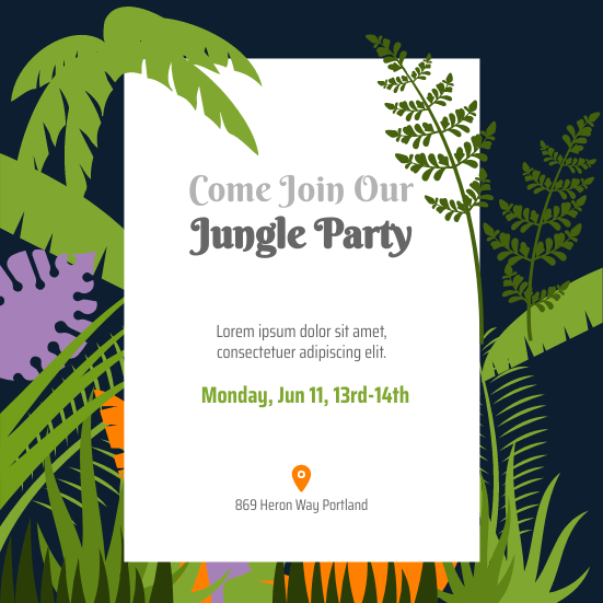 Invitation template: Jungle Explorer Invitation (Created by InfoART's Invitation marker)
